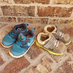 Lot of 2 NIKE play shoes sz.7 & 8